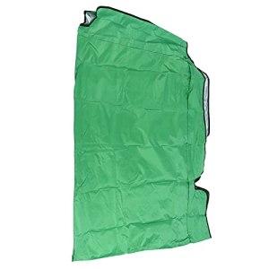 Hoseten Swing Canopy Cover, Pare-Soleil résistant aux intempéries Swing Top Rain Cover Protection Solaire pour Les Cours et Les Jardins(Green, Three Seats 195 * 125 * 15cm)