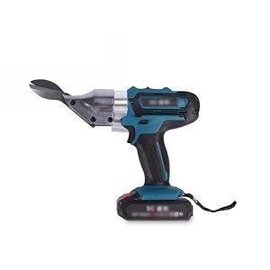 household items Ciseaux électriques sans Fil, Alimentation électrique avec Lame, Ciseaux Portables pour Machine de découpe de métal, Bleu