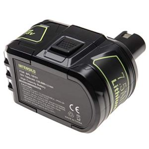 INTENSILO Batterie compatible avec Ryobi P731, P740, P741, P780, P813, P835, ZRP813 outil électrique (7500mAh Li-ion 18 V)