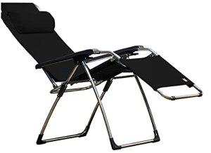 Jan Kurtz Amida Soft Quick Dry Chaise Longue avec Structure en Aluminium et Housse Noir
