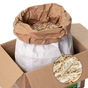 Jumbogras® succédané de paillis d'écorce de Jardin en matériau Pur déchiqueté – pH Neutre, désherbant et adapté aux Plantes sensibles, 100% à Base de biomasse