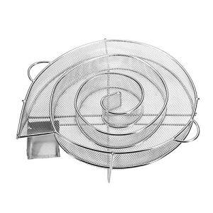 Kacoco Générateur de fumée à froid, en forme d'escargot, rond, pour fumage à froid BBQ, en acier inoxydable, pour barbecue et fumoir