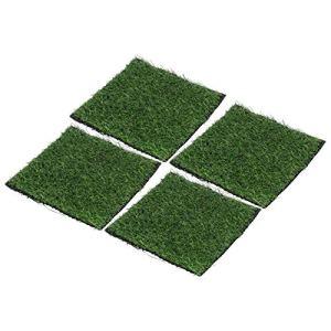 Kadimendium Tapis de Gazon pour Chien de Compagnie Gazon Artificiel pelouse Gazon Artificiel Bande de Couture Auto-adhésive 25×25 cm pour Jardin extérieur