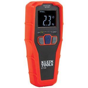 KLEIN TOOLS Hygromètre sans Broche pour la détection de l'humidité Non Destructive dans Les cloisons sèches, Le Bois et la maçonnerie détecte jusqu'à 1,9 cm en Dessous de la Surface ET140