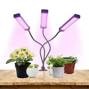Lampes de culture Ceepko, lumière LED pour plantes d'intérieur, luminosité 10 dimmable, minuterie 3/9 / 12H, 3 modes de commutation, col de cygne réglable, adapté à la croissance de diverses plantes