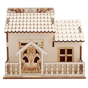 Leftwei avec veilleuse modèle de Maison Miniature, boîte de Rangement pour pièces de Monnaie, boîte de Rangement pour Argent, Cadeau de Bureau en Bois décor de Bureau de Maison de poupée 5.12 *(2)