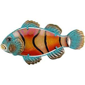 Liffy Métal poisson mur Art salle de bain décor nautique extérieur Tropical poisson clown décorations suspendues pour piscine ou Patio