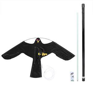 LIUTT Oiseau Repeller Extensible Bird Repeller Scarer Flying Kite avec Perche télescopique 7m