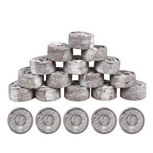 Lot de 100 granulés de tourbe de 3,5 cm – Plancher Jiffy Plant Starter Plug – Terreau de fleurs en noix de coco – Respirantes – Hydratantes – Pour herbes, plantes, fleurs