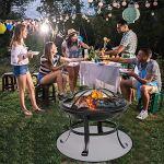 Magent 24 Pouces Tapis De Brasero Ignifuge, Tapis De Protection De Sol pour Barbecue, Résistant Au Feu Résistant À La Chaleur pour Sol, Terrasse, Pelouse, Extérieur Ou Terrain De Camping