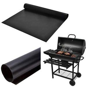 Malatec 8647 Lot de 5 Tapis de Barbecue réutilisables pour Barbecue et pâtisseries Résistance à la Chaleur jusqu'à 260 °C Noir