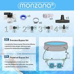 Monzana Bypass Kit Piscine 12 pièces avec Filtre à Sable pour Chauffage de Piscine Pompe à Chaleur Solaire en T avec Bande en téflon Valve 3 Voies