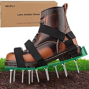 NEUFLY Chaussures aérateur de gazon – Pliable – Ergonomie – Taille universelle – Aérateur de gazon – Aérateur de pelouse – Vert