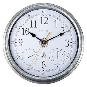 NeXtime Tulip Horloge, thermomètre et hygromètre étanches, Gris