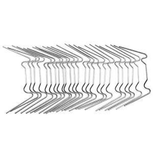 NEYOANN Lot de 100 clips de vitrage en acier de type W pour serre, verre, maison à double entrée