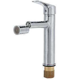 OIHODFHB Robinet de lavabo rotatif pour salle de bain et cuisine – Robinet mitigeur en cuivre pour eau chaude et froide – Norme UE 3/8