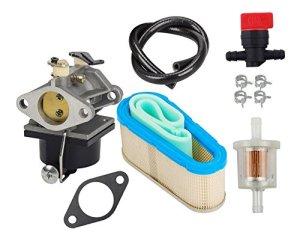 OuyFilters Carburateur, avec filtre à air 36356, vanne d'arrêt, filtre à carburant, ligne d'alimentation, pour Tecumseh OHV125, OHV130 et OVH135, modèle de rechange du 640065A