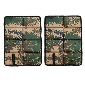 Pique-nique pliable Tapis Coussin de siège en mousse isolé Camping Coussin de siège imperméable camouflage 2PCS fournitures de ménage