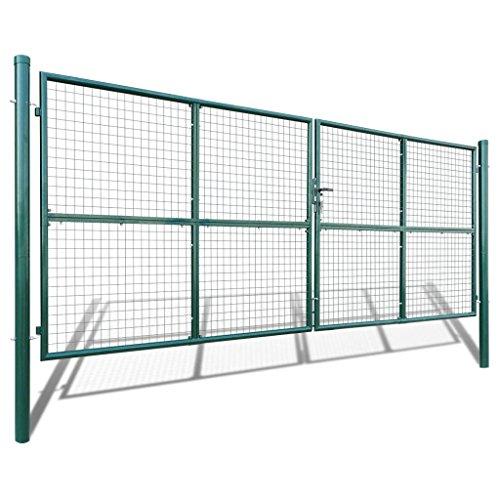 Portail à mailles 415 x 200 cm/400 x 150 cm Vert foncé