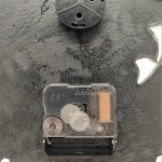 Povanjer Horloge Murale de Jardin Horloge Murale Retro Résine de résine imperméable Montre avec thermomètre pour Mur de Jardin de Cour (sans Batterie)