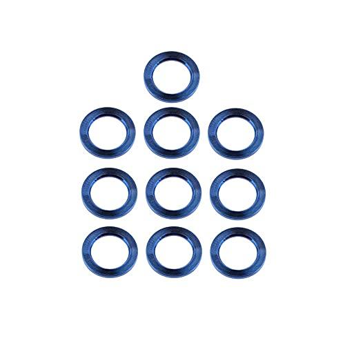 QUJJP vis 10pcs M4 M5 M6 M8 M8 M8 M10 Titanium Laveuse Plate Titanium DIN912 Titanium Spacer pour Les pièces de Moto à vélos Acier Inoxydable (Color : Blue, Inner Diameter : M10)