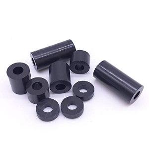 QUJJP vis M3 Vis de laveuse ABS Sleeve Ronde Spacer Black Pas de Threads Pack 1000 Acier Inoxydable (Inner Diameter : M3x7x15)