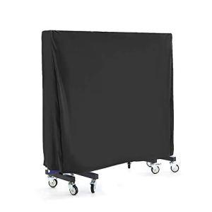 Ranikeer Housse de Table de Tennis de Table Imperméable Bâche de Protection pour Table de Ping Pong de Jardin Couverture Anti-UV Antipoussière en 420D Oxford Tissu, 165x70x185cm