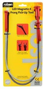 Rolson Outil de ramassage magnétique/à griffe avec DEL