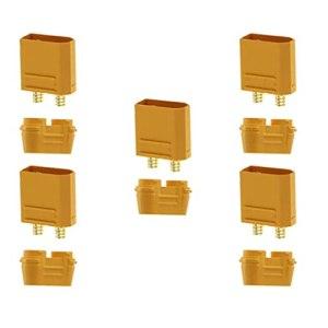 Scicalife 5 Ensembles XT90H Mâle Femelle Batterie Connecteur Plug avec Gaine Logement pour Lipo Batterie