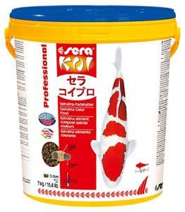Sera – Koi Professional – Nourriture spécial couleurs pour poissons – Carpes koï – À base de spiruline – 1 x 7 kg
