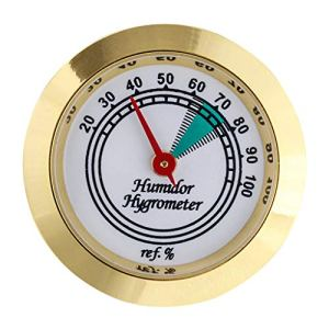 SHURROW Hygromètre à Cadre en Or Rond de Haute précision de Haute précision de 43 mm de qualité Durable