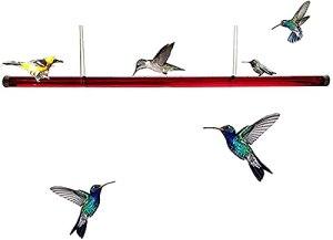 SJH Tube d'alimentation en Plastique, Alimentation en Plastique Hummingbird avec Trou, Tuyau de Tube d'alimentation Transparent extérieur Facile à Utiliser,60cm