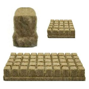 Sliveal Lot de 50 Cubes de Laine de Pierre en Laine de Pierre 25 x 25 x 40 mm