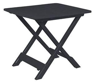 Spetebo Table pliante Tevere – Anthracite – 80 x 72 x 70 cm – Idéale comme table d'appoint.