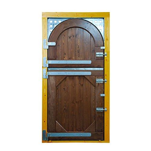 STRUCMADER – Porte partie en 2 feuilles pour cabane de cheval. Modèle : Quart de Milla 115 x 220, chêne/cerisier/noyer/naturel