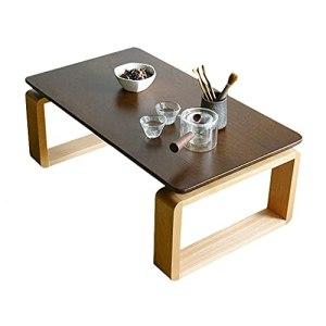 Table basse amovible Table basse stable Table d'appoint Table d'appoint nordique Table Tatami Table à thé Zen pour salon chambre baie vitrée (Color : Dark Brown, Size : 70×45×35cm)
