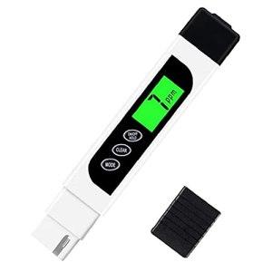 Tester la qualité de l'eau portable multifonctions TDS EC température 3 en 1 Pen Digital Test de l'eau pour la culture hydroponique Piscine