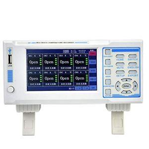 Testeur de température Enregistreur de température 8G grande capacité 8 canaux IV-380 avec écran LCD 5 pouces pour l'industrie