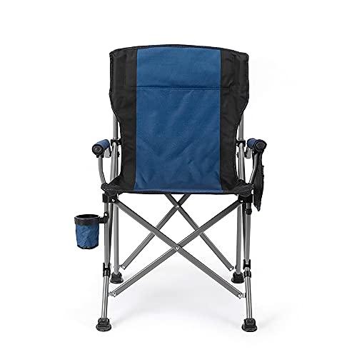 URJEKQ Chaise Portative De Chaise De Camp Pliante Compacte Et Durable Légère avec Porte-Gobelet Parfait pour Les Festivals De Camping Garden Fishing Beach,Bleu