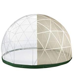 VEVOR Tente Bulle Transparente Extérieur Serre de Jardin Ronde Garden Tente de Jardin d'hiver Tente Dôme Transparent Idéal pour Plantes, Graines, Herbes, et Légumes (9,5 ft / 2,9 m, avec Fil de Tente)
