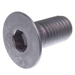 Vis à tête fraisée SECCARO M12 x 25 mm, acier inoxydable V2A VA A2, DIN 7991 / ISO 10642, emboîture hexagonale, 20 pièces