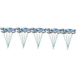 WinmetEuro Piquets de Papillons, décoration de Jardin 50 pièces matériaux de Haute qualité Ornements de Jardin pour la décoration intérieure pour Pots de Fleurs pour Cadeaux pour Enfants