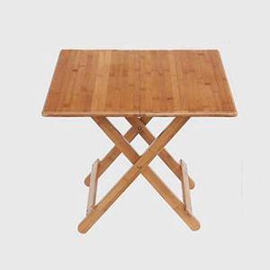 WSHFHDLC Table Basse Table carrée Nouvelle Table Pliante Table Pliante à Manger Tables Tables Pliantes Maison Portable Petit Appartement, Brun Petites Tables de café (Size : 60cmx50cm)