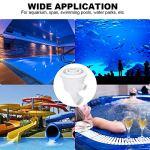 Xndz Buse de Piscine, Accessoire de Piscine de buse de Massage Spa avec Une efficacité de Travail élevée pour Aquarium Spa, Piscine, Parcs Aquatiques