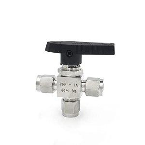 YIJIAN SS304 Acier Inoxydable 3mm 4mm 6mm 8mm 10mm de 10mm 12mm Double Tube de Tube de Tube de Tube de Tube à Double Pression 3 Voies Haute Pression Haute Pression (Specification : 4mm)