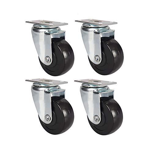 YZJJ Roulette pivotante, PVC, Roulette de Meuble Universelle Plate, Remplacement des Chariots, Chariot à Main, Outils, Meubles Mobiles
