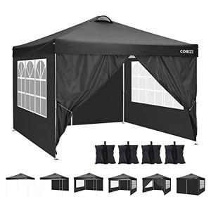 3×3 Tente Tonnelle Pliante imperméable Gazebo 3x3m Tonnelle de Jardin Tente de Reception avec évent, 4 Sacs de Sable