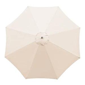 æ— 8 baleines de 3 m de diamètre coloré de rechange pour parasol extérieur à double couche UV, toit de tonnelle, auvent de toit uniquement