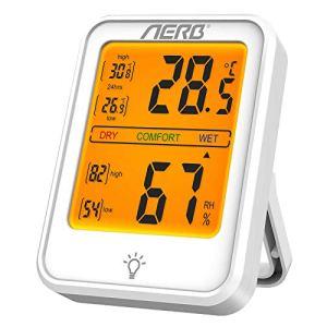 Aerb Hygrometre, Hygrometre Interieur de Haute Précision, Indication du Niveau de Confort, ℃/℉Commutable,Hygrometre Indicateur du Niveau de Confort du Maison Bureau Cuisine