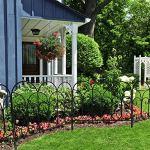 Amagabeli 46 cm x 230 cm Clôture Décorative Métal Pour Jardin Motif Paysage et Barrière Barriere de Jardin Noir